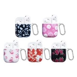 FLORAL PRINTED HARD CASE FOR AIRPODS 1 AND 2